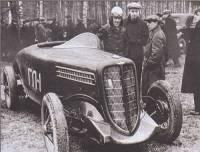 ГАЗ-ГЛ1 1938 года с четырехцилиндровым мотором. Шасси - ГАЗ-М1, колеса - от ГАЗ-А.