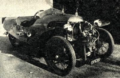 Фото 3. Morgan Super Sport (1933 г.) с мотором JAP воздушного охлаждения.
