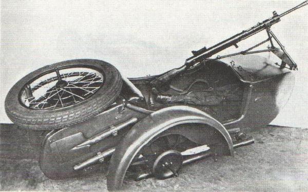 Модель ДП - Мотоколяска с Пулеметом Дегтярева